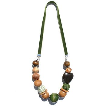 Olive Velvet Necklace