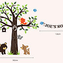 Personalised Woodland Friends Wall Stickers