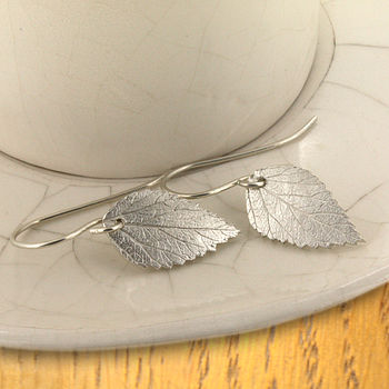 Small Spiraea Leaf Earrings