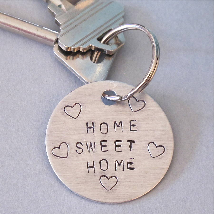home sweet home39; personalised key ring by edamay  notonthehighstreet