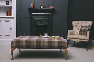 Huntingtower Tweed Footstool - furniture