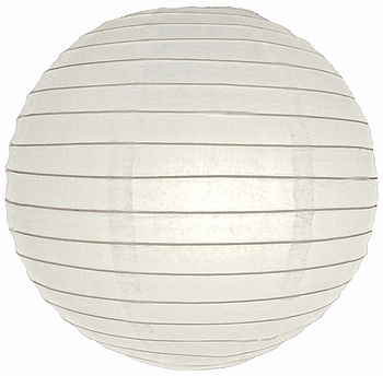 Pack Of Five 16 Inch Large Round Paper Lantern 40cm