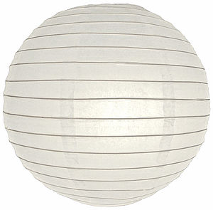 16 Inch Large Round Paper Lantern 40cm - lighting