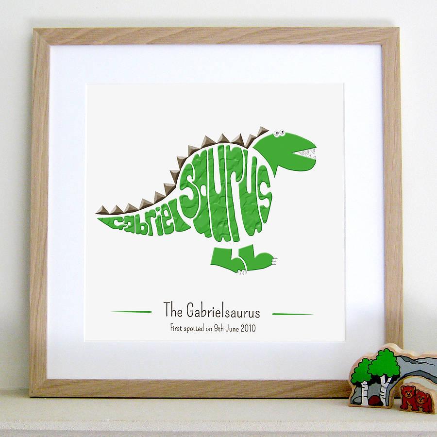 Personalised Stegosaurus Picture