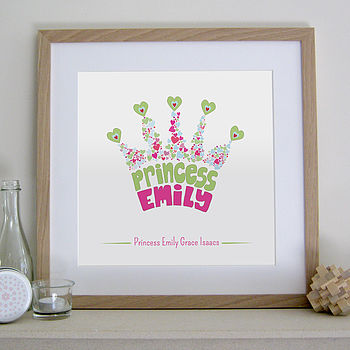 Personalised Princess Crown Picture