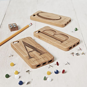 Personalised Initial Case For iPhone - technology accessories