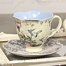 Hummingbird Tea Cup And Saucer