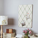Dotty Ribbon Cream Linen Memo Board