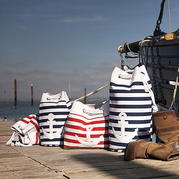 Nautical Striped Bags