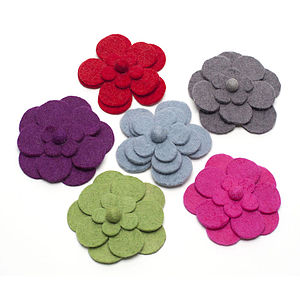 Handmade Felt Big Flower Brooch