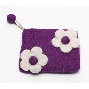 Handmade Felt Child's Flower Doublet Purse
