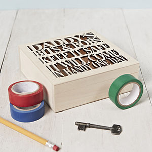 Personalised Storage Box - gifts for him