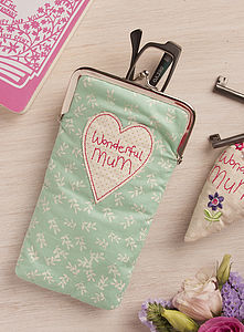 Mums Fabric Glasses Purse - bags & purses