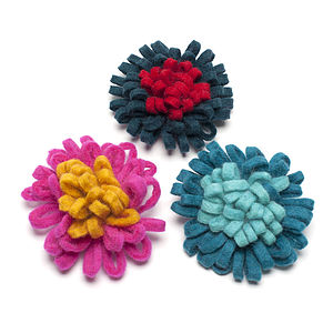 Handmade Felt Urchin Brooch - women's accessories