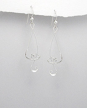 Sterling Silver Musical Note Earrings