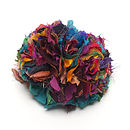 Handmade Recycled Silk Multicoloured Brooch