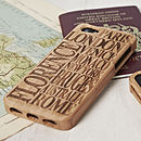 Thumb personalised travel destination iphone case