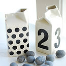 Dots Or Numbers Milk Jug