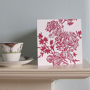 Chrysanthemum Greetings Card