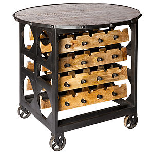 Jodin Brix Bar Table And Wine Storage - kitchen