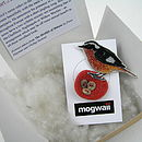 Redstart Brooch