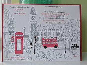 London Wedding Invitation