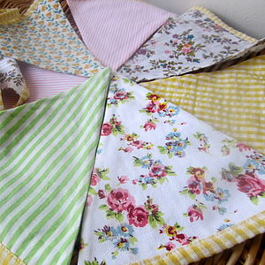Spring Gingham And Floral Bunting - outdoor decorations