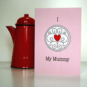 'I Love My Mummy' Jammy Dodger Biscuit Card