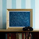 Constellations Star Map Print