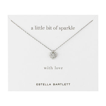 Diamante Heart Charm Necklace