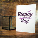 Happy Mother's Day Typographic Card