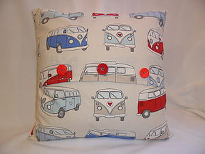 Personalised Campervan Cushion - baby's room