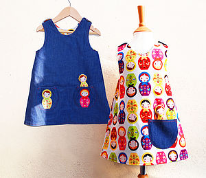 Girl's Russian Doll Summer Dress - clothing