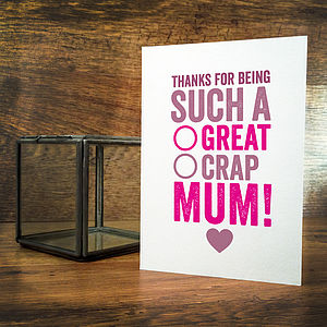 Great Mum Mothers Day Card