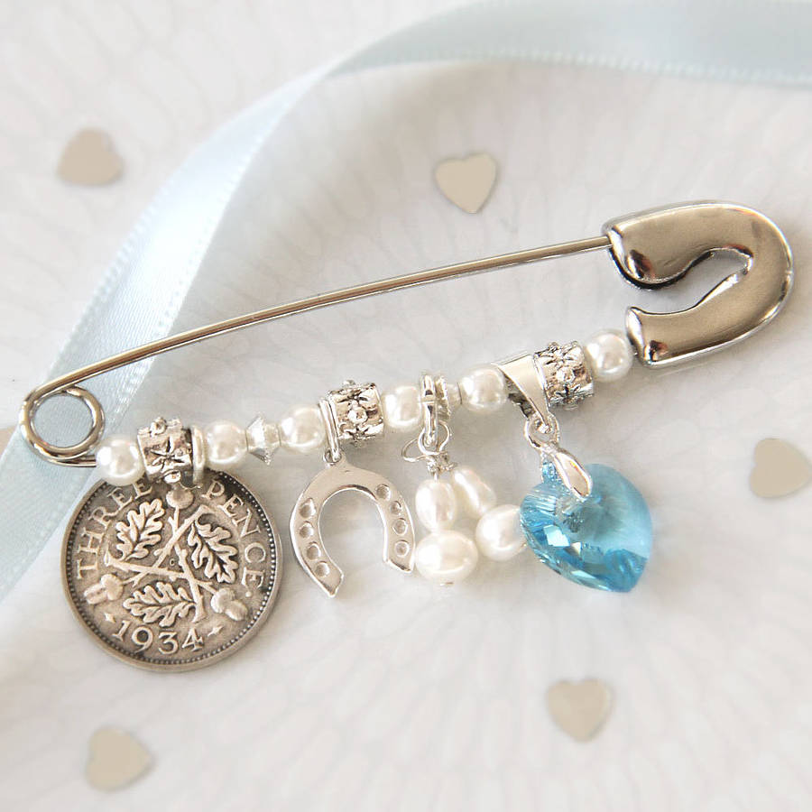 Bridal Charm Pin By Bettys Glamour Box Notonthehighstreet