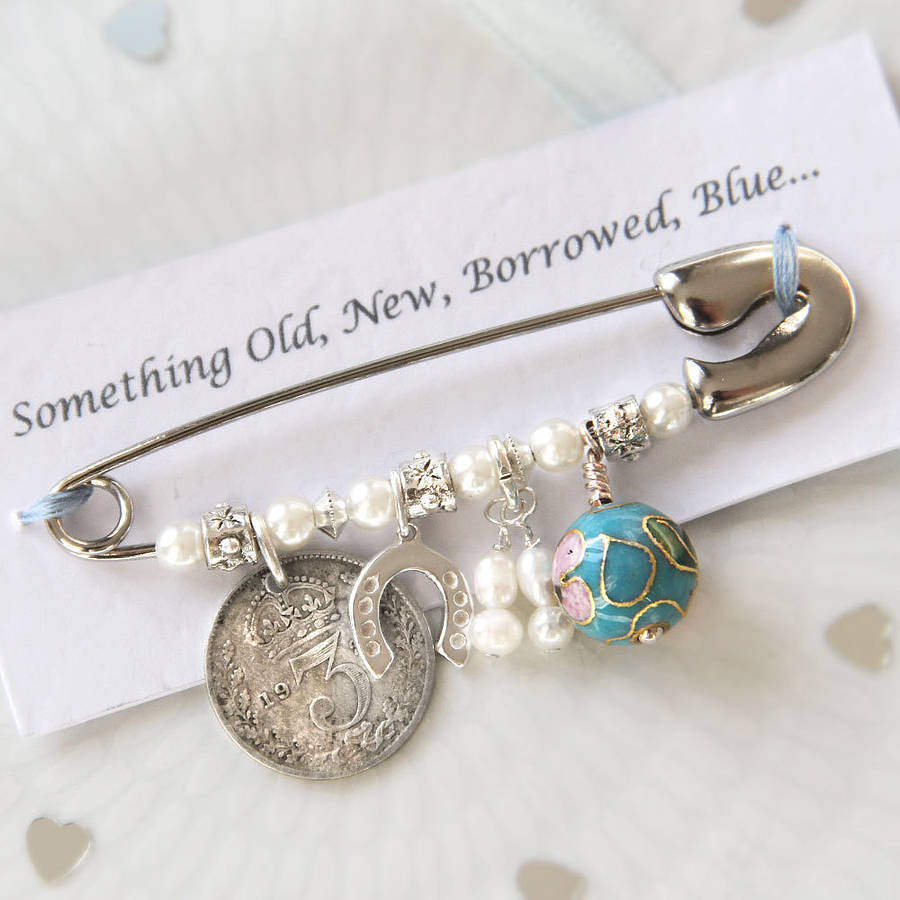 Wedding Gifts For Bride Something Blue : bridal charm pin by bettys glamour box notonthehighstreet.com