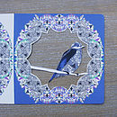 Bird Cut Out Birthday Greeting Card