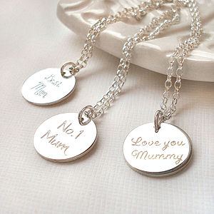 Sterling Silver Mum Necklace - for mothers