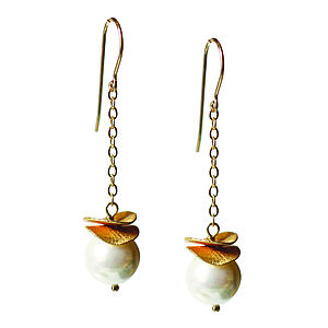 Freshwater Pearl And 14k Gold Fill Earrings