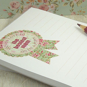 Personalised Mother's Day Notepad - gifts for mothers