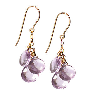 A Brief Shower Of Amethyst Earrings