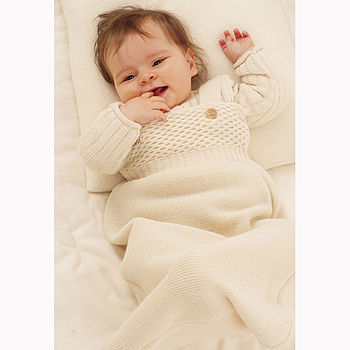 Organic Knitted Merino Wool Light Baby Sleeping Bag