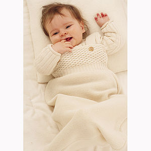 Organic Knitted Merino Wool Light Baby Sleeping Bag - baby sleeping bags
