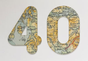 Bespoke Map Age Birthday Card - gifts for her