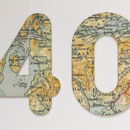 Bespoke Map Age Birthday Card