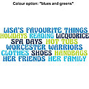 Blues and greens colour option