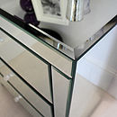 Wide Mirrored Bedside Table