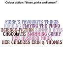 Blues, Pinks And Browns Colour Option