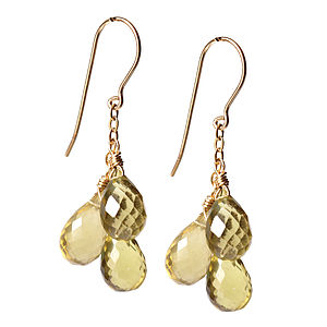 A Brief Shower Of Lemon Quartz Earrings - women's jewellery