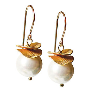 Pearl And 14k Gold Fill Earrings